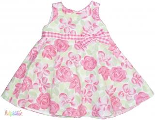 31150a45ec BHS rózsaszín-zöld-fehér pamutvászon ruha 68' 4-Hibátlan empty