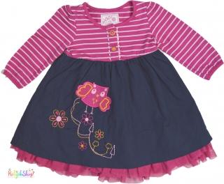 088a259ff8 St.Bernard baglyos pink csíkos, sötétkék, alsószoknyás ruha 74' 5-Újszerű  empty