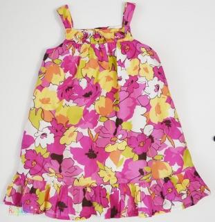 41b9a1d7d8 Szép színes virágos 2 vékony rétegű pamutvászon ruha 5év' 4-Hibátlan empty