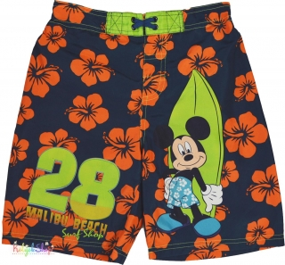 5f8a7cfd66 Disney Mickey narancs virágos sötétkék, belül hálós rövidnadrág 5-6év' 4-Hibátla  empty