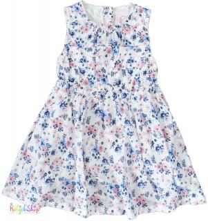 YD kék-rózsaszín virágos fehér ruha 06eda9082a