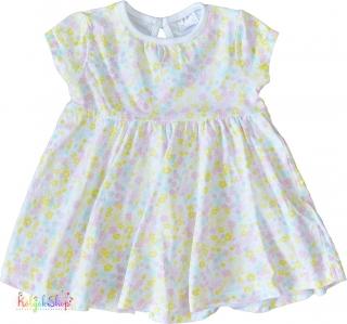 F F halvány rózsaszín-sárga virágos fehér pamut ruha 62  4-Hibátlan empty 884e2413a9