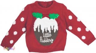 Mi karácsonyos bordó kötött pulóver 86  5-Újszerű empty 5cbb3fb63a