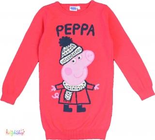 F F Peppa rózsaszínes-piros gépi kötött ruha 5-6év  5-Újszerű empty ebfb0b700d