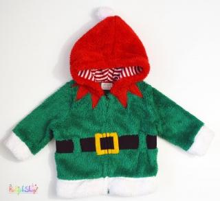 F F zöld-piros-fehér szőrmés polár pulóver 68  4-Hibátlan empty 9eb2ef18da