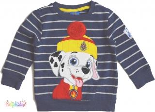 384a2aa4d6 George Mancs őrjárat kék csíkos, belül bolyhos pulóver 2-3év' 5-Újszerű  empty