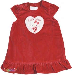 H M Hello Kitty bordó vékony bársony ruha bd44a79628